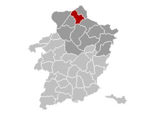 Neerpelt - Image: Neerpelt Limburg Belgium Map