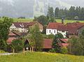 Nesselwang - Schneidbach v N, Regenwetter.JPG