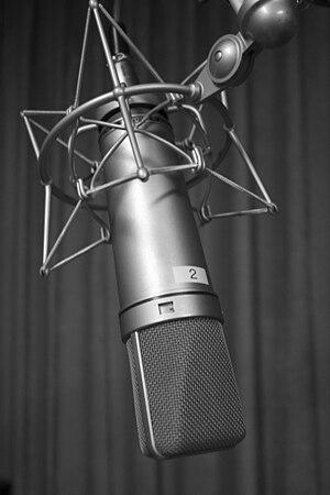 Georg Neumann - A Neumann U87 condenser microphone