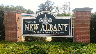 New Albany, Mississippi - Image: New Albany Mississippi Welcome Sign