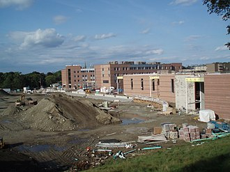 Newton North High School - The construction site of the new Newton North in September, 2009.