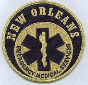 New Orleans Emergency Medical Services - Image: New Orleans EMS Patch