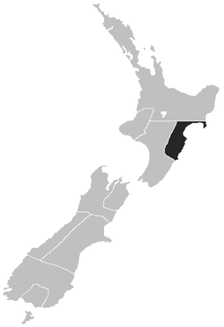 Hawke's Bay Province within New Zealand