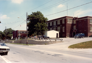 "Newmarket High School - The ""fourth incarnation"" as it appeared in June 1981"