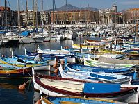 View of the port of Nice