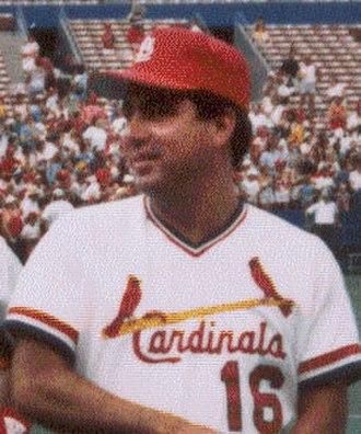 Nick Leyva - Leyva coaching for the Cardinals, 1987.