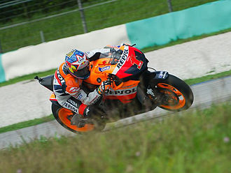 Nicky Hayden - Nicky Hayden with number 1 on his motorcycle for the 2007 season
