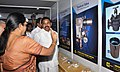 Nirmala Sitharaman at the stalls of exhibition of Defence production vendors, at the inauguration of the Defence Industry Development Meet for Forging New Partnership with Industry for Defence Production.jpg