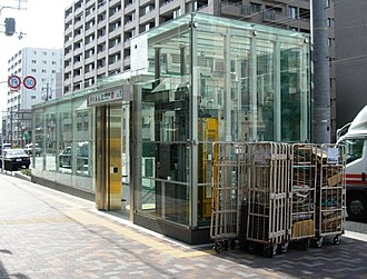 Nishiōji Oike Station - Nishiōji-Oike Station (No. 1 exit), January 2008