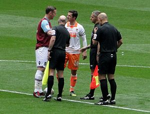Barry Ferguson - Ferguson as captain of Blackpool with Kevin Nolan before the 2012 Football League Championship play-off Final