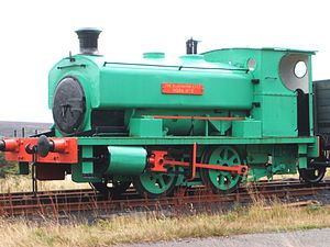 Big Pit National Coal Museum - Preserved Andrew Barclay Sons & Co. locomotive Nora No.5 at Big Pit