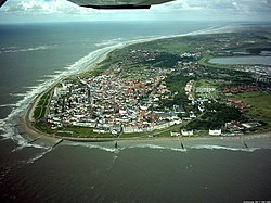 Aerial view of Norderney from the west