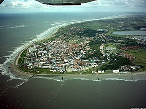 Norderney - Aerial view of Norderney from the west