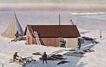 Norges flagg plantet paa Sydpolen. Framheim-Stationen på Isbarrieren (12114199975).jpg