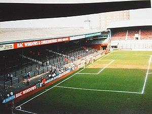 Boleyn Ground - The North Bank, 1991, before redevelopment.