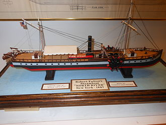 North River Steamboat - Model of the North River Steamboat at the Hudson River Maritime Museum