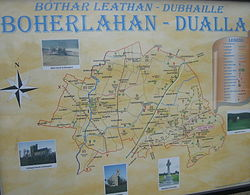 Boherlahan-Dualla tourist sign in Dualla village