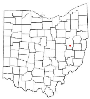 Gnadenhutten, Ohio - Image: OH Map doton Gnadenhutten