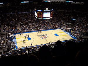Chesapeake Energy Arena - Oklahoma City hosted and defeated Minnesota for their first win.