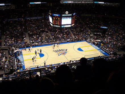 Oklahoma City hosted and defeated Minnesota for their first win. OKC Thunder.JPG