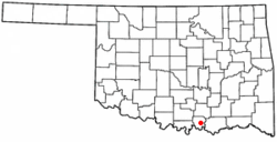 Location of Kingston, Oklahoma