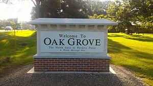 Oak Grove, West Carroll Parish, Louisiana - Image: Oak Grove LA Welcome Sign