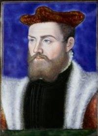 Odet de Coligny, Cardinal de Chatillon, ca 1552, by Léonard Limousin.jpg