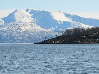 Ofotfjord fjord in Nordland, Norway