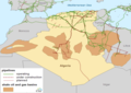 Oil and natural gas basins and pipeline infrastructure in Algeria (29079856511).png