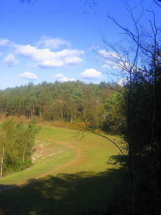 Devil's Punch Bowl - The route of the former A3 along the rim of the Punch Bowl