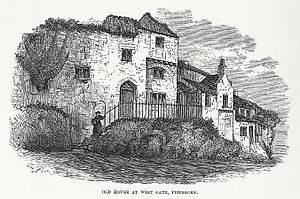 Worthington George Smith - Old House at West Gate, Pembroke. Published in Archaeologia Cambrensis, April 1881.