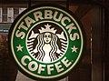 Old Starbucks branding sign in Villier Street branch (24529285803).jpg