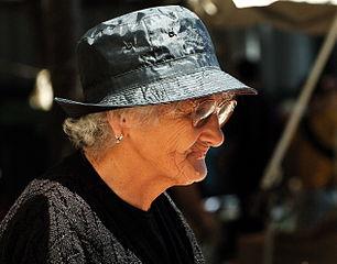 A senior woman.