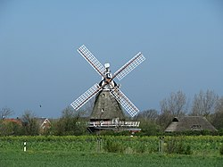 The windmill is Oldsum's landmark