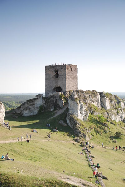 Plik:Olsztyn Castle Staroscinska Tower.JPG