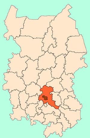 Омский район на карте
