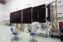 Uno dei pannelli solari di Juno