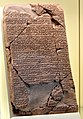 One of the Amarna letters. A letter from Tushratta king of Mitanni to the Egyptian Pharaoh Amenhotep III. Circa 1370 BCE. Akkadian cuneiform text. From Tell el-Amarna, Egypt. Vorderasiatisches Museum, Berlin.jpg