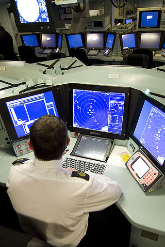 The operations room aboard HMS Daring