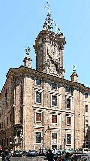 Oratorio dei Filippini - The turret with a clock, by Borromini.