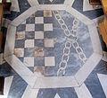 Oratorio di Santa Maria delle Grazie (Firenze), int., pavimento, stemma ubaldini morelli alberti.JPG