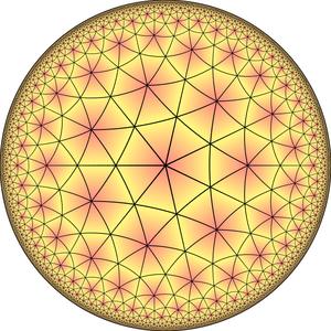 Truncated order-7 triangular tiling