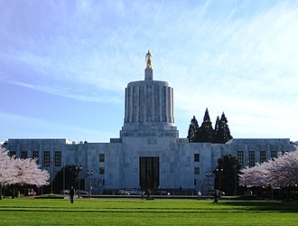 Oregon State Capitol - Oregon State Capitol, view from Capitol Mall