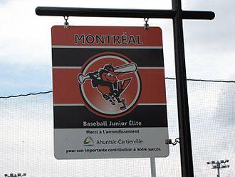 Orioles de Montréal - Orioles de Montréal sign at Ahuntsic Park