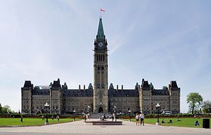 Ottawa: Centre Block of Parliament Hill