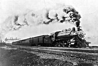 Overland Route (Union Pacific Railroad) - The Overland Limited leaving Sixteenth Street Station, Oakland. 1906.