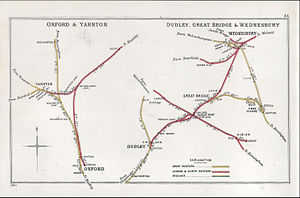 Oxford railway station - A 1902 Railway Clearing House map of railways in the Oxford area