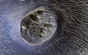 Mesa - A mesa in Noctis Labyrinthus on Mars, viewed by HiRISE.