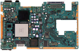 Emotion Engine - The Emotion Engine on the motherboard of the PS2