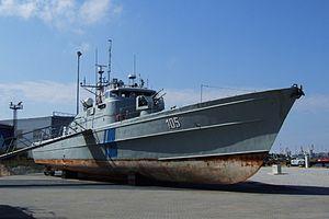 Storm-class patrol boat - PVL 105 Torm at a museum in Tallinn